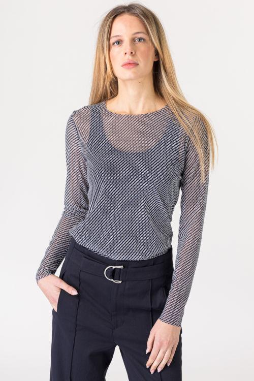 Prozračna ženska bluza sa uzorkom