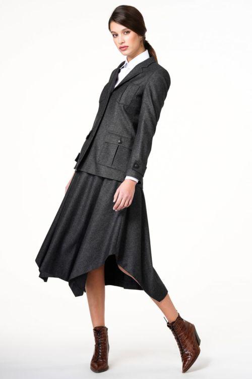 Asimetrična suknja sive boje
