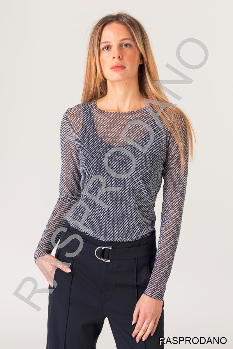 Prozračna ženska bluza s uzorkom