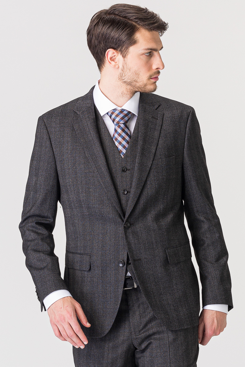 Varteks Grey plaid suit blazer - Slim fit