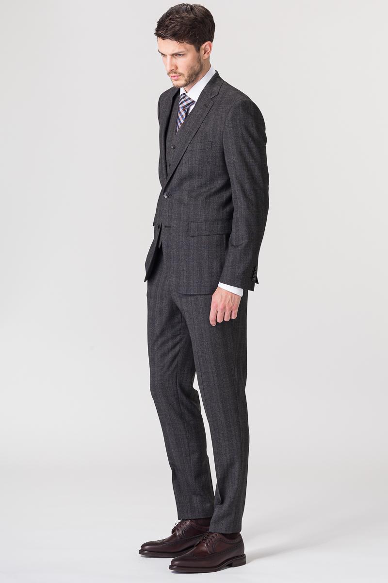 Varteks Grey plaid suit blazer - Slim fit