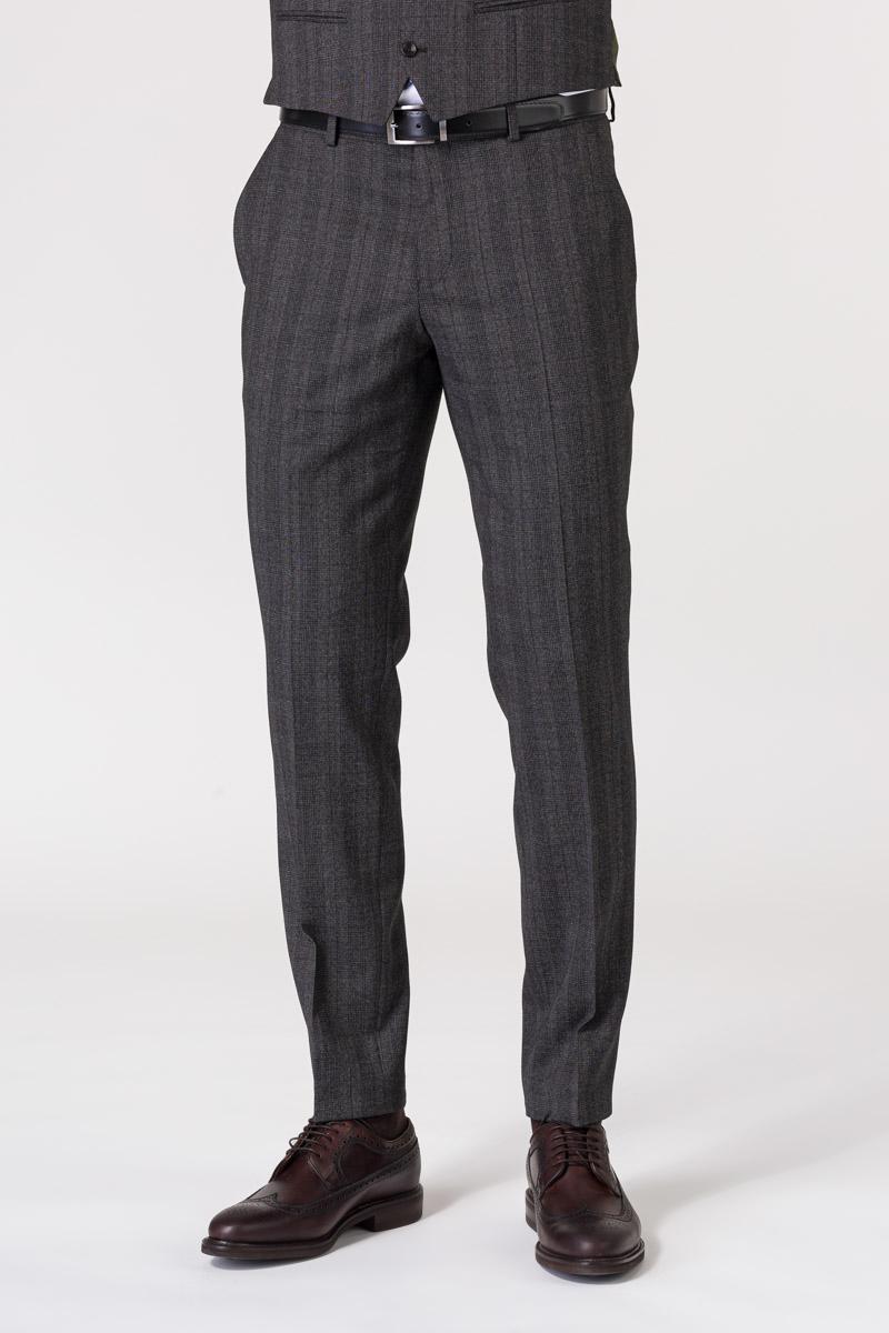 Varteks Sivo karirane hlače od odijela - Regular fit