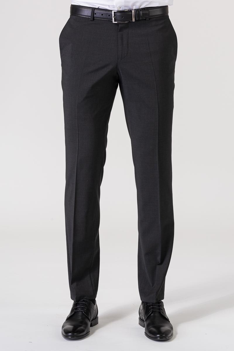 Antracit sive hlače od odijela - Regular fit