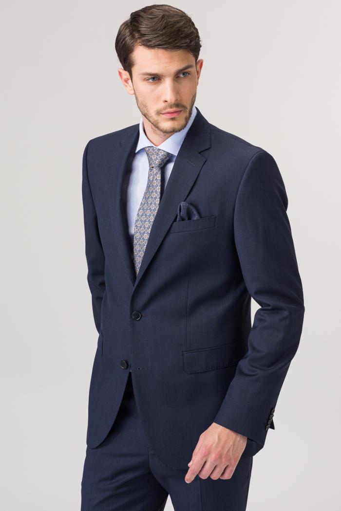 Elegantni tamno plavi sako od runske vune - Regular fit