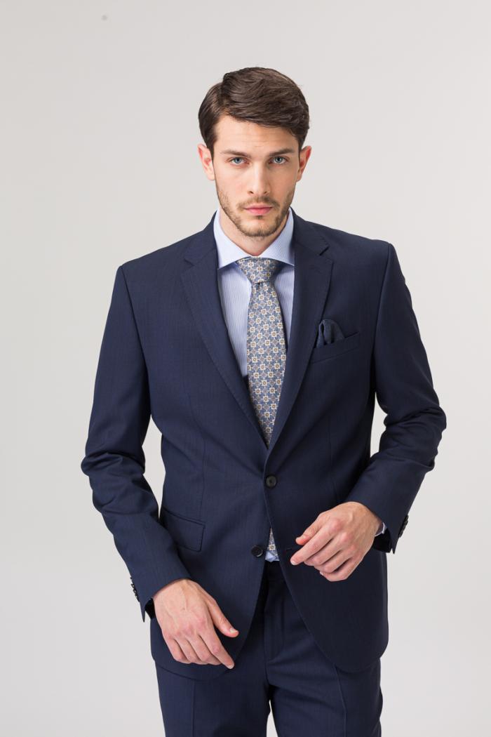 Tamno plave hlače od runske vune – Regular fit