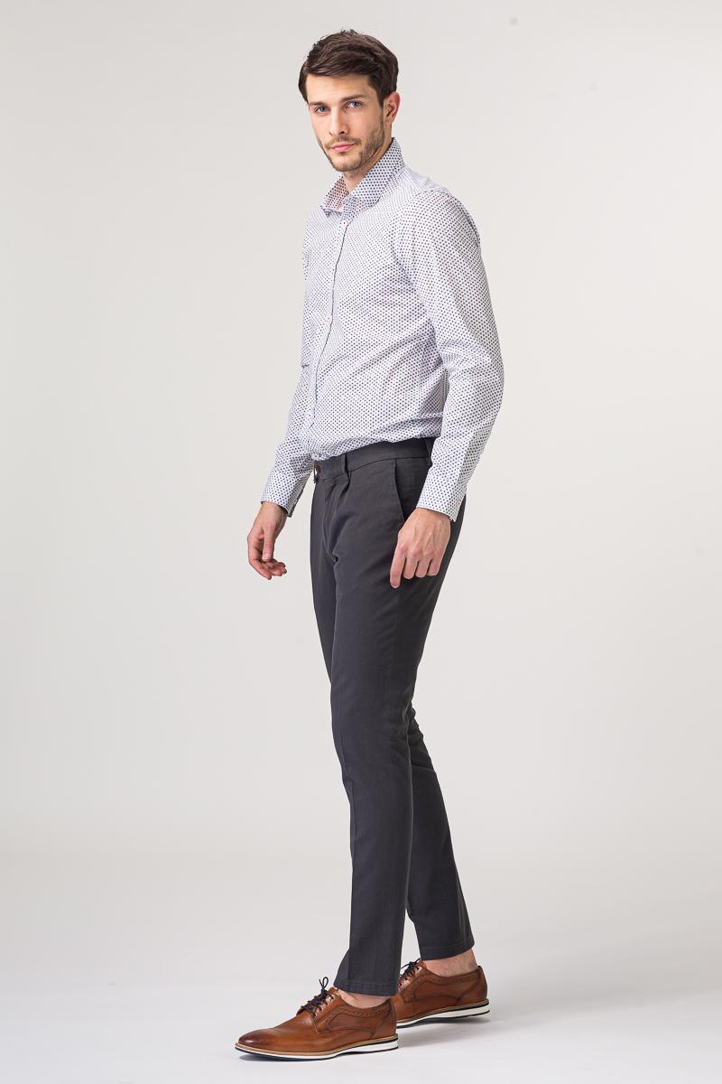 Tamno sive - antracit pamučne chino hlače