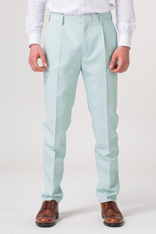 YOUNG Muške hlače boje pistacije – Slim Fit