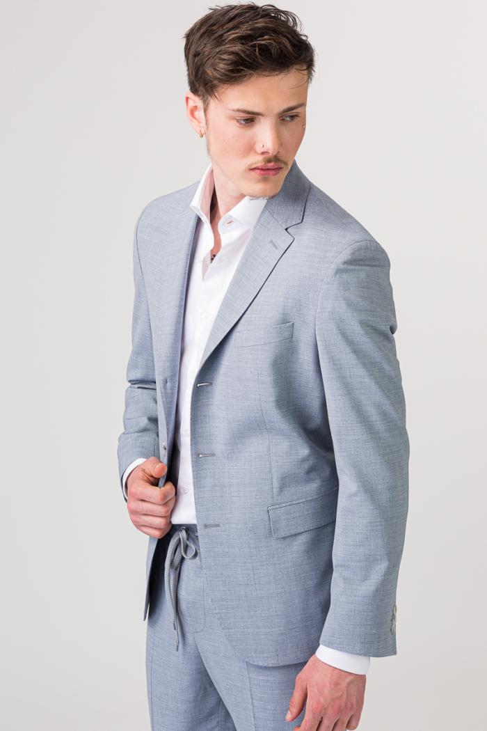 YOUNG Muški sako sivo plave boje