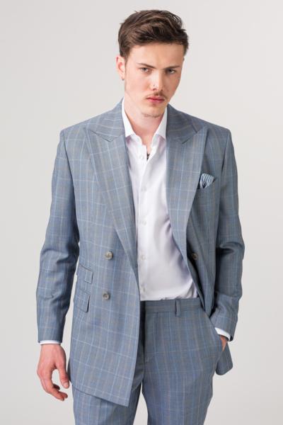 YOUNG muškI svijetlo plavI kariranI sako od odijela