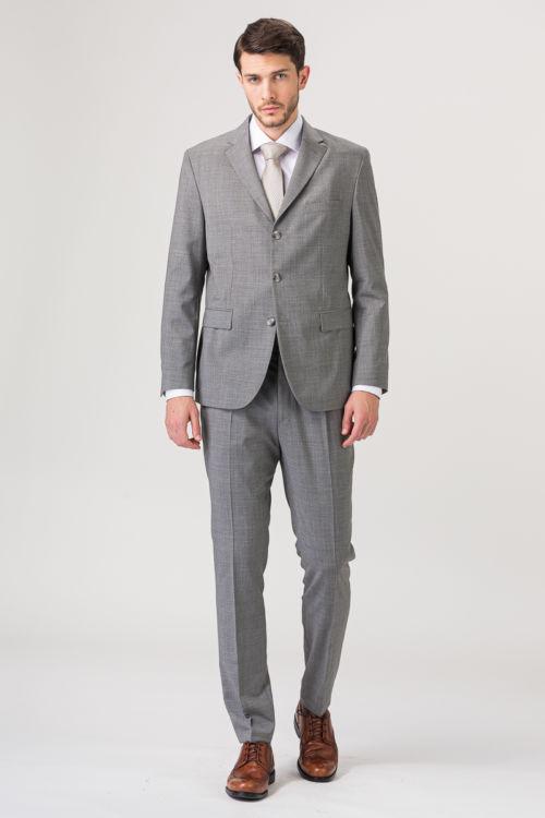 Svijetlo sive hlače od runske vune- Regular fit
