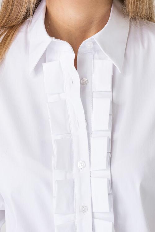 Romatična ženska košulja s ukrasnim detaljem