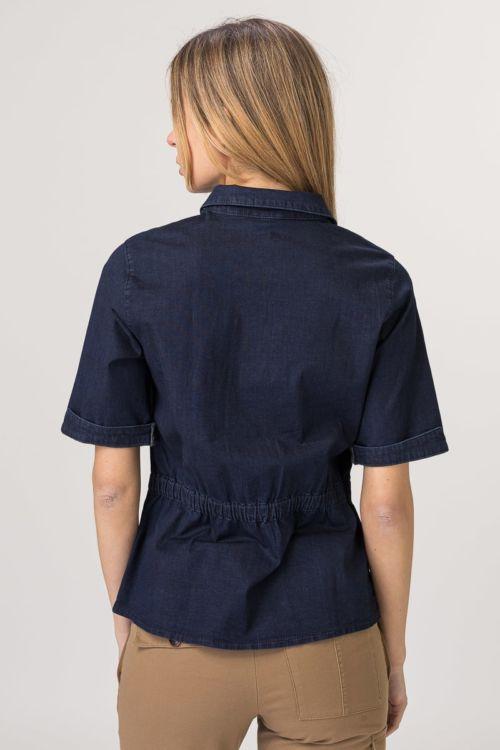 Ženska jeans bluza tamno plave boje