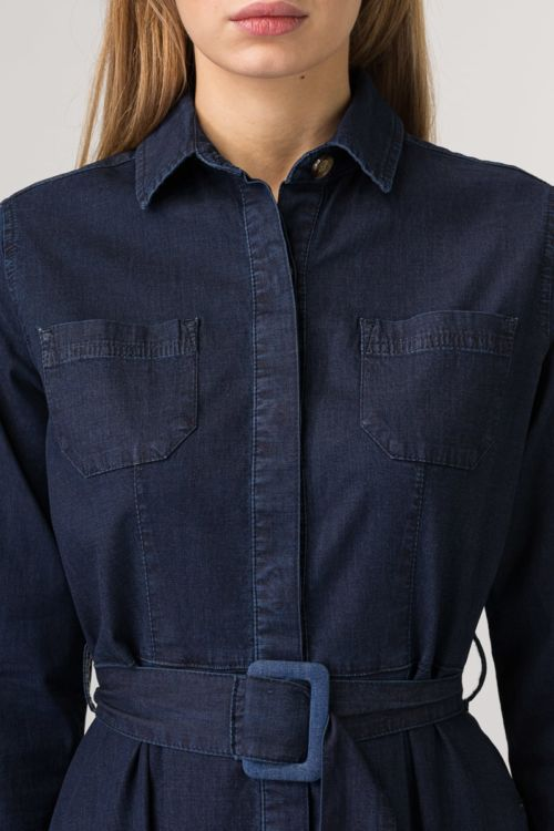Jeans haljina s remenom