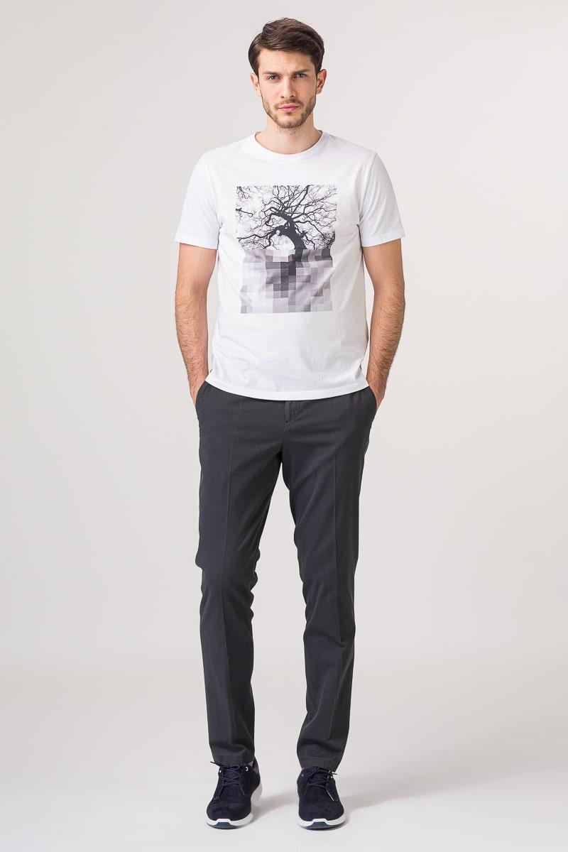 Muška bijela majica s printom