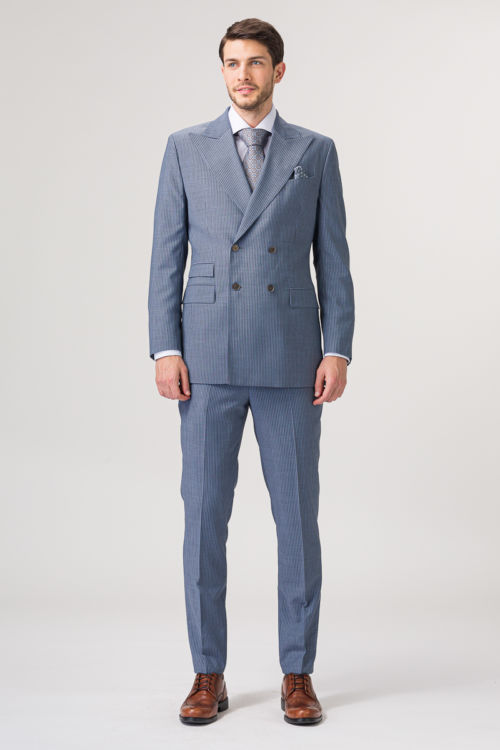 Svijetlo sivi hlače od odijela - Slim fit