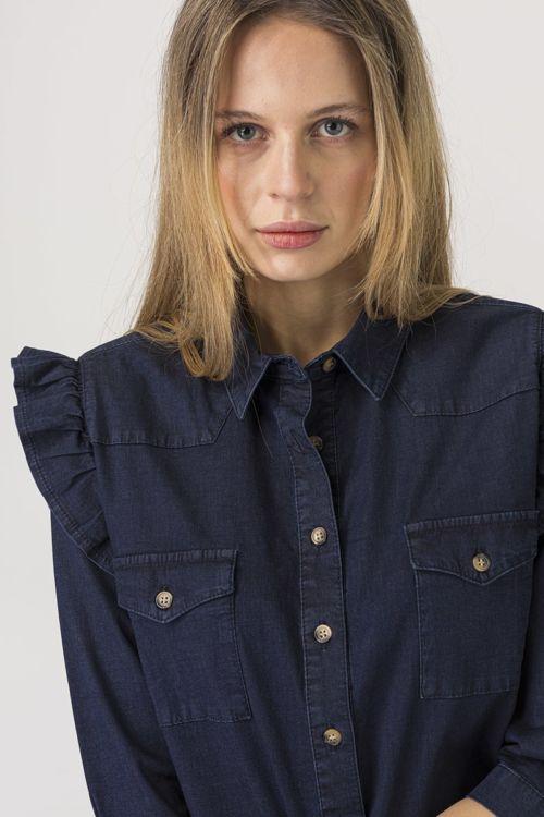 Romantična jeans bluza