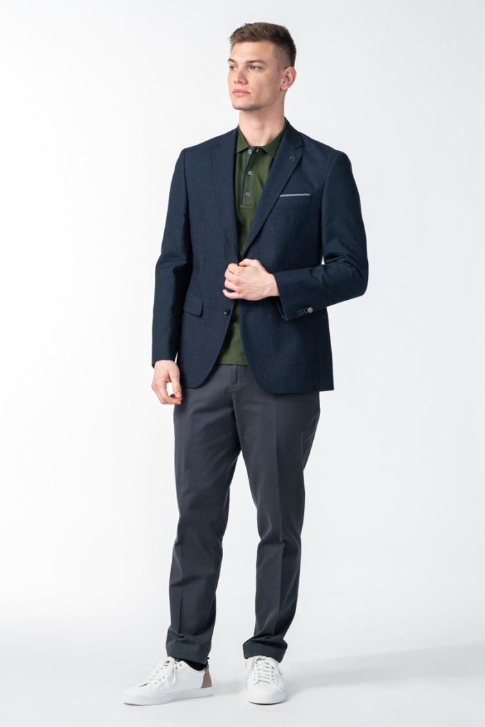 Varteks Muški tamno plavi sako s ukrasnim pinom - Regular fit