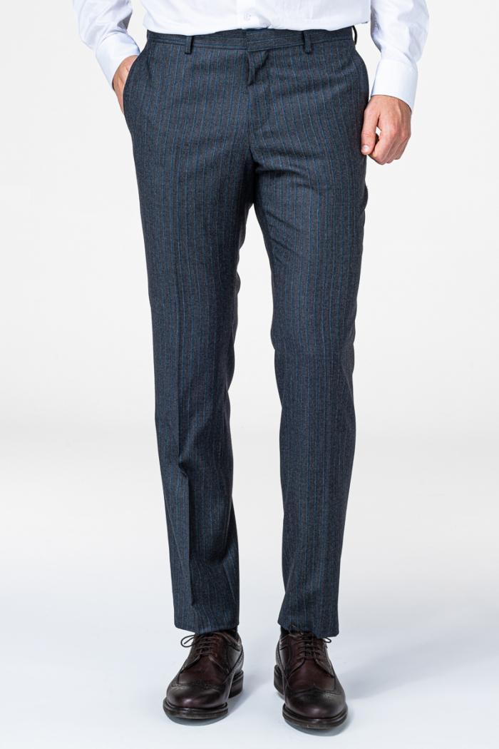 Limited Edition – Muško sivo odijelo 100% Loro Piana Zelander