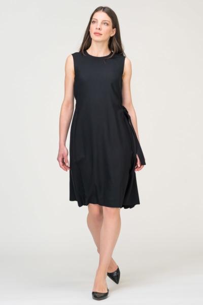 Modularna crna haljina bez rukava