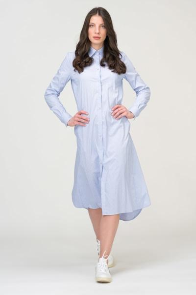 Duga nebeski plava haljina - košulja