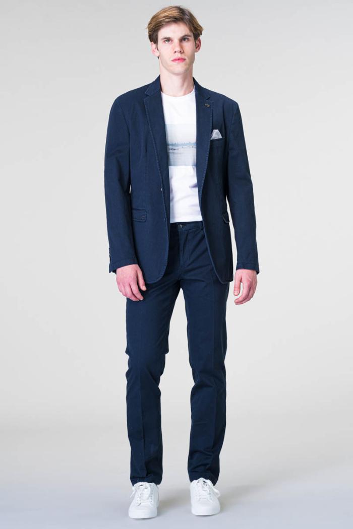 Tamno plavi muški pamučni sako - Regular fit