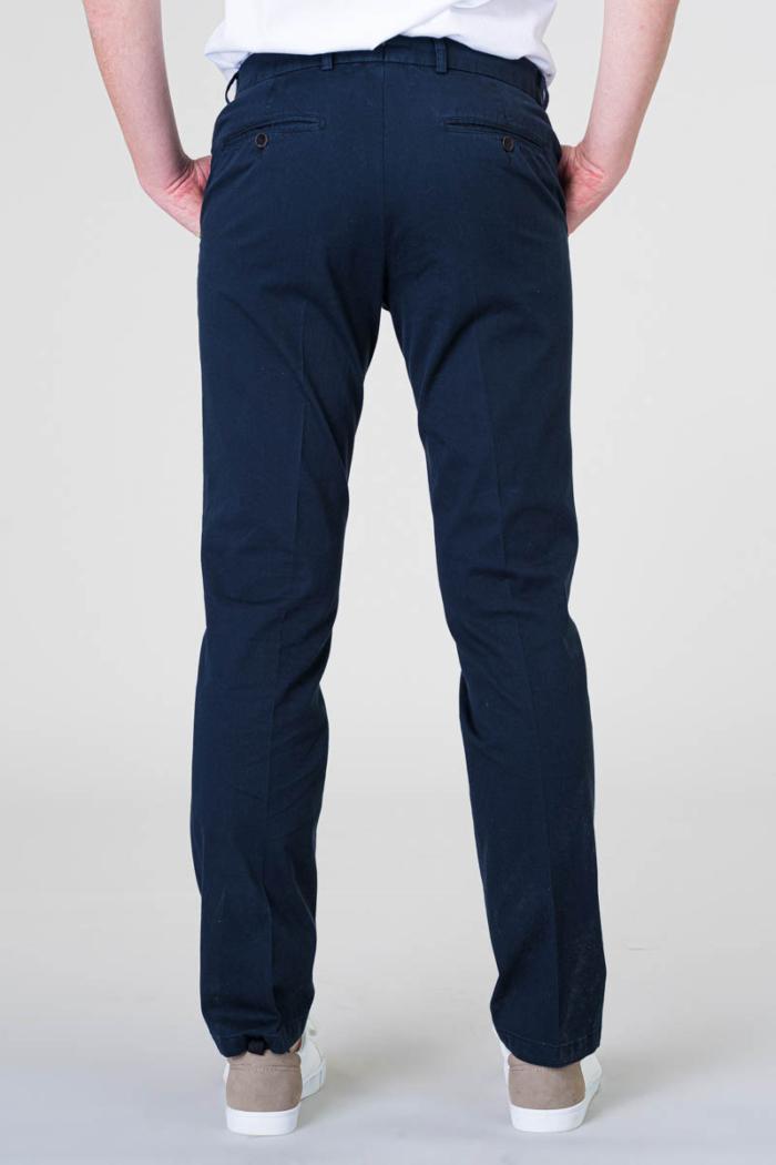 Tamno plave pamučne muške hlače - Regular fit