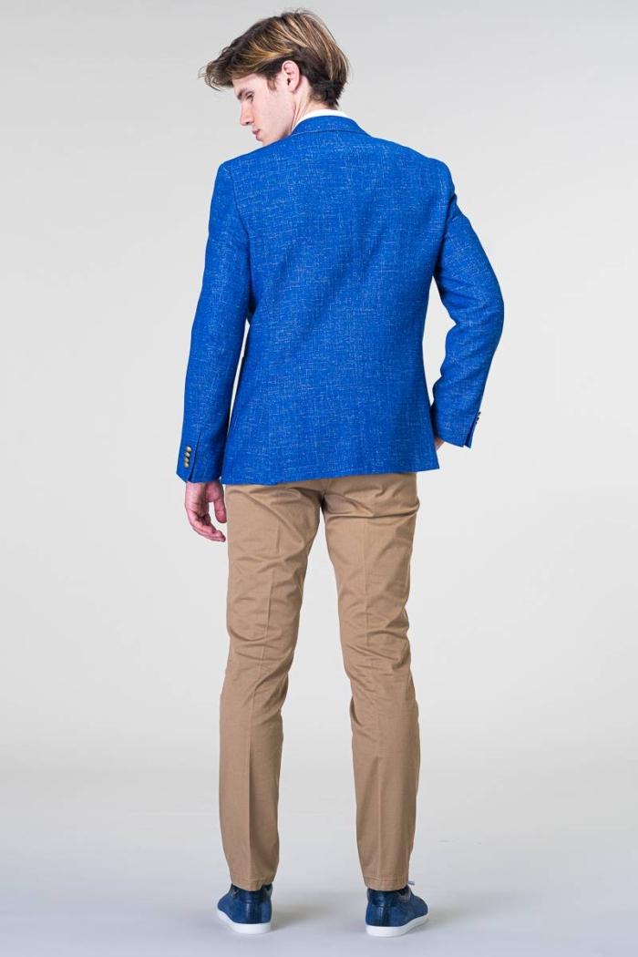 Sportski muški sako otvoreno plave boje - Regular fit
