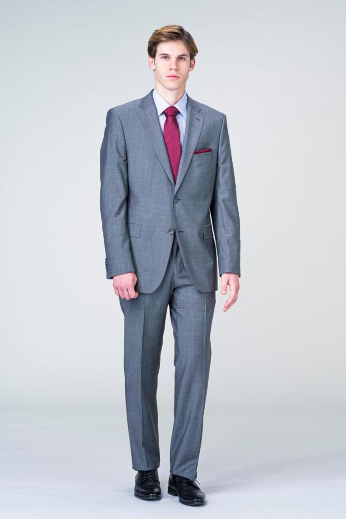 VARTEKS Muško klasično odijelo sive boje - Super 100's - Comfort fit