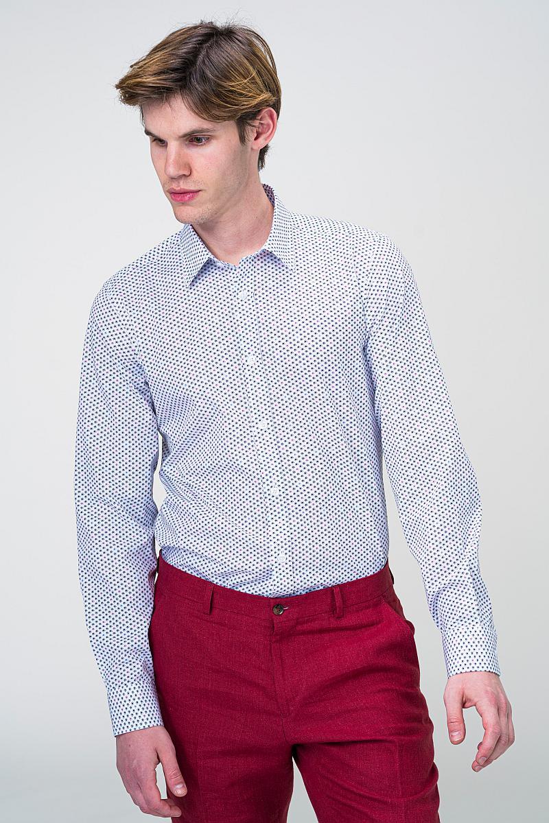 Bijela dezenirana košulja dugih rukava - Slim fit - Shop Varteks d.d.