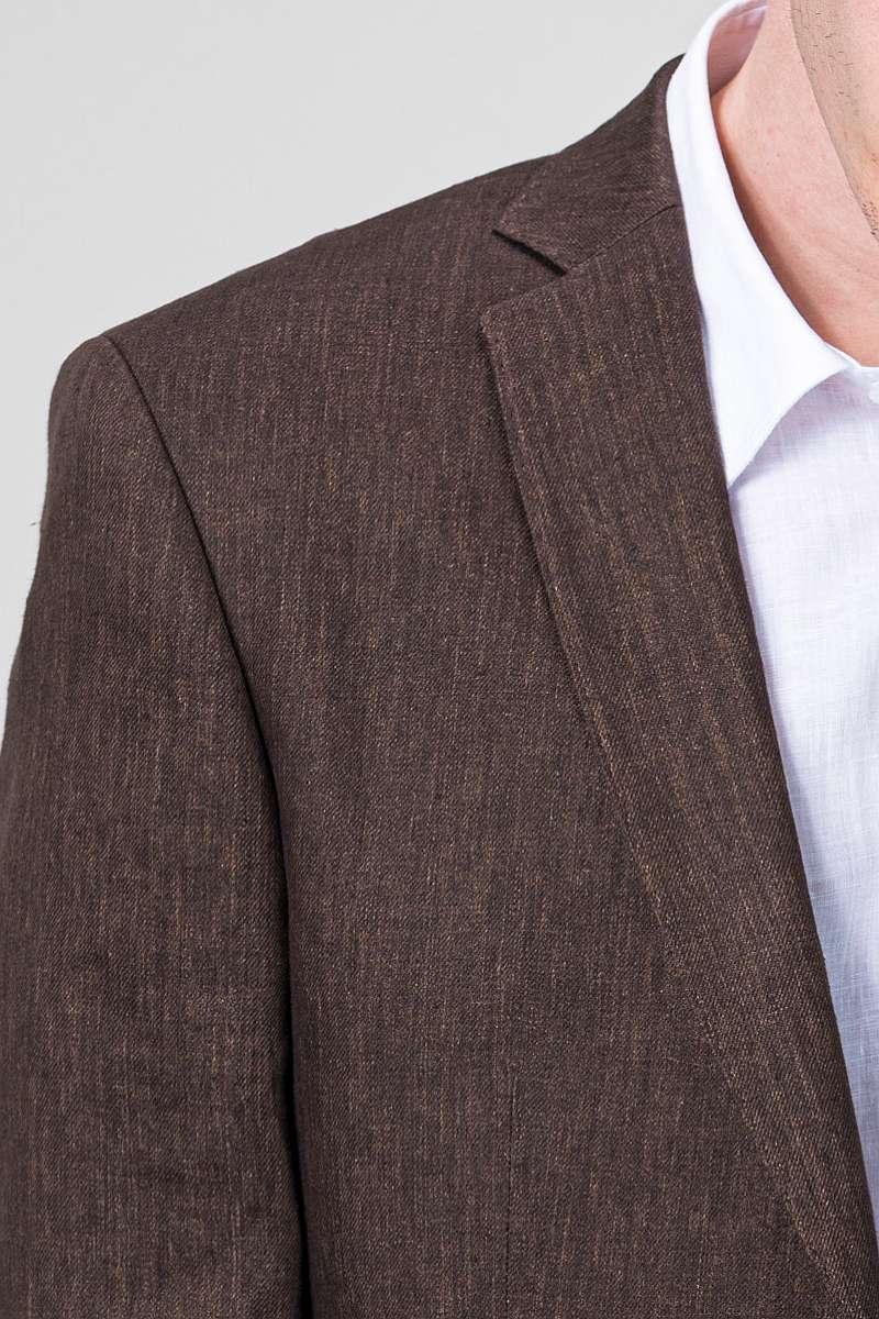 VARTEKS Laneni muški sako smeđe boje - Regular fit