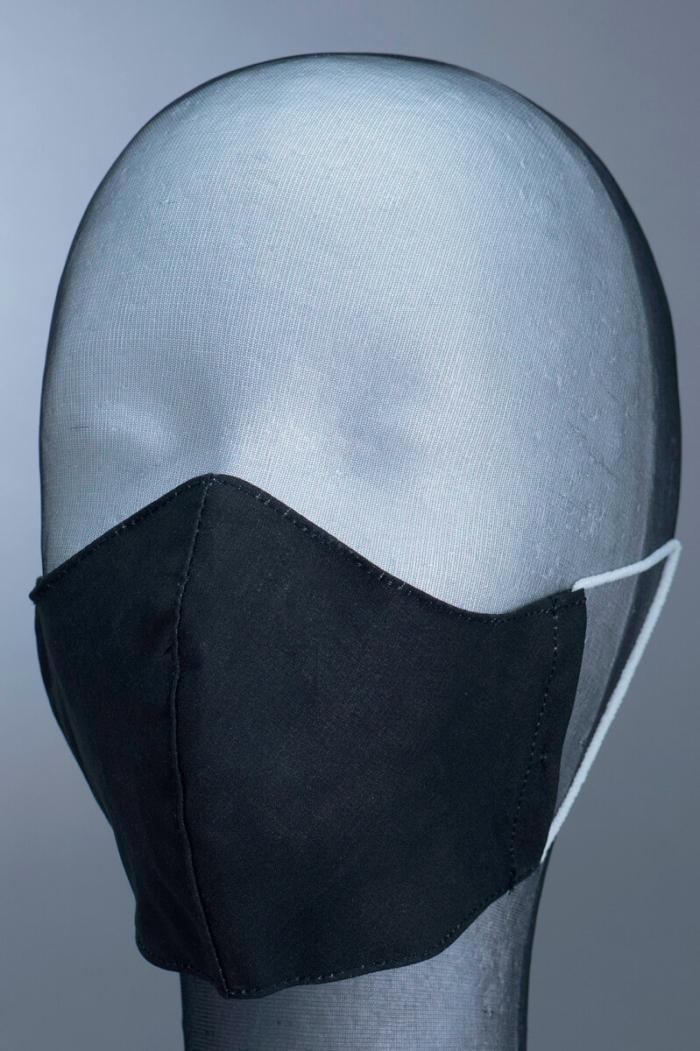 Dezenirana dvoslojna maska za lice - crna - vel. M