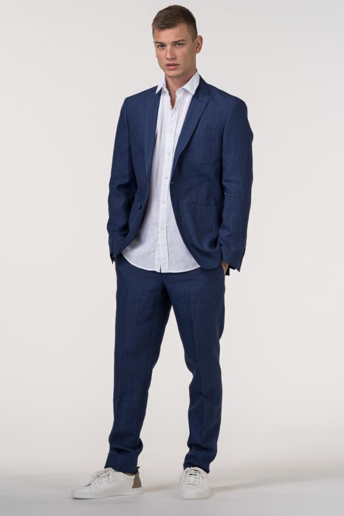 VARTEKS Muški laneni sako od odijela - Regular fit