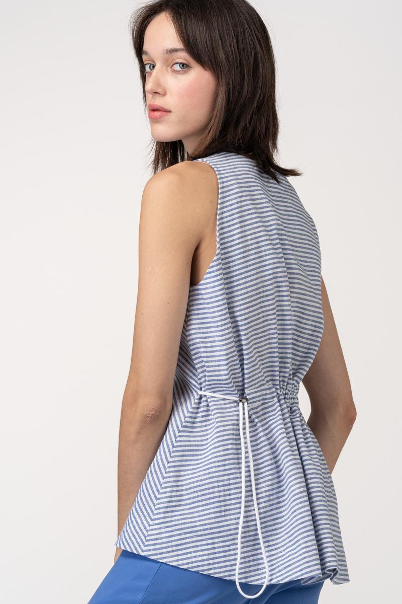 VARTEKS Ženska svijetlo plava bluza bez rukava