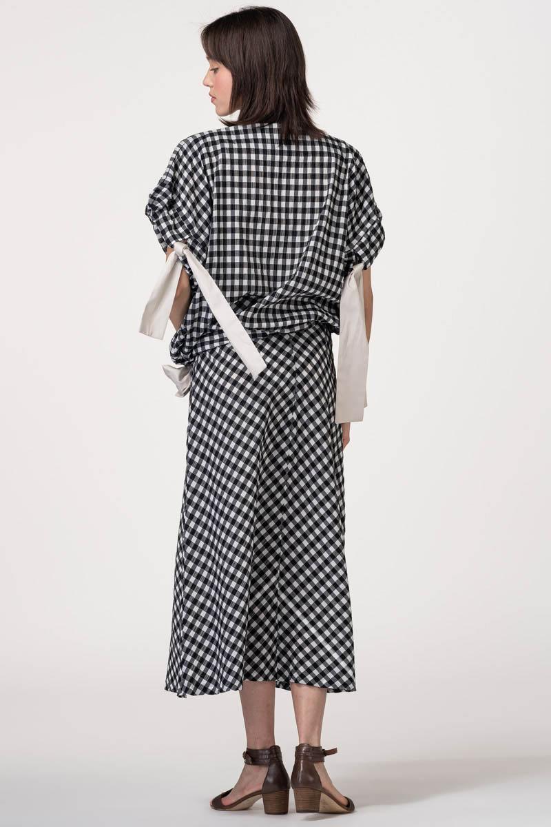 Ženska gingham suknja A kroja