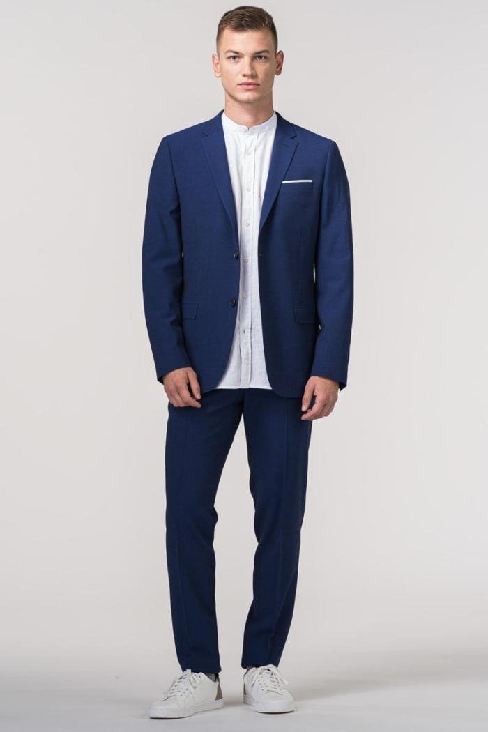 VARTEKS Muške hlače od odijela Travel suit - slim fit
