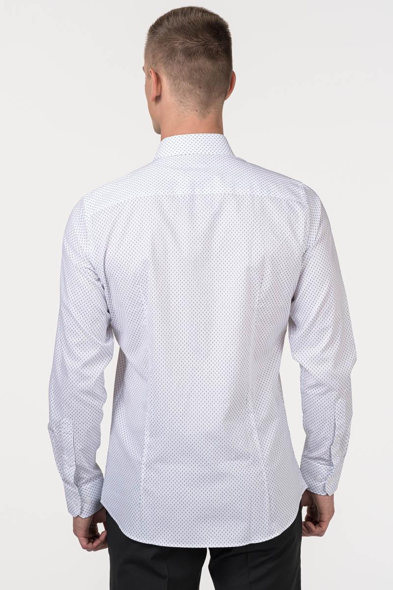 VARTEKS Pamučna košulja sa sitnim uzorkom – Slim fit