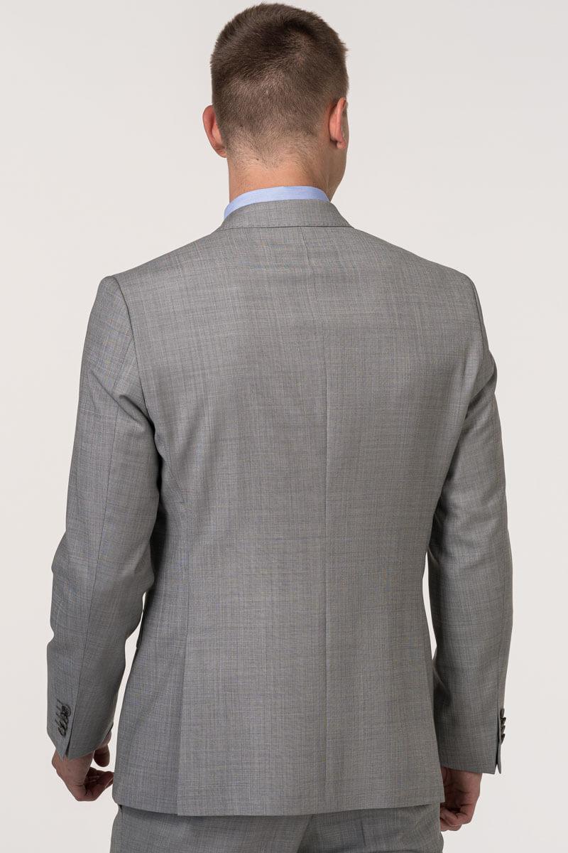 VARTEKS - Muški vuneni sako sive boje Super 110's – Regular fit