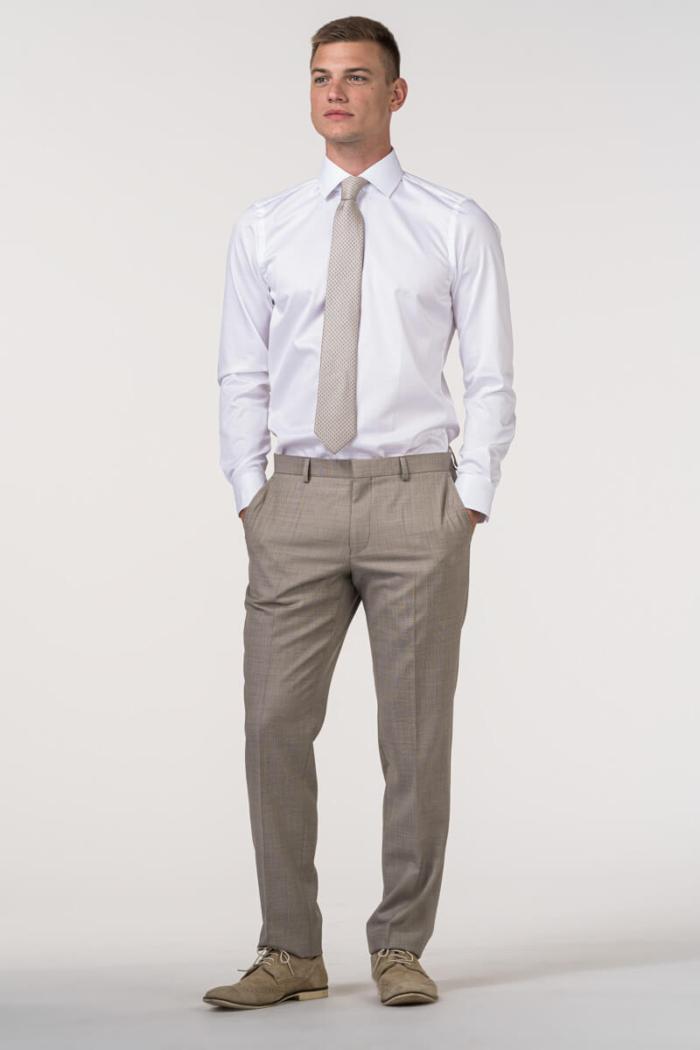 VARTEKS - Muške vunene hlače Super 100's u dvije boje – Regular fit