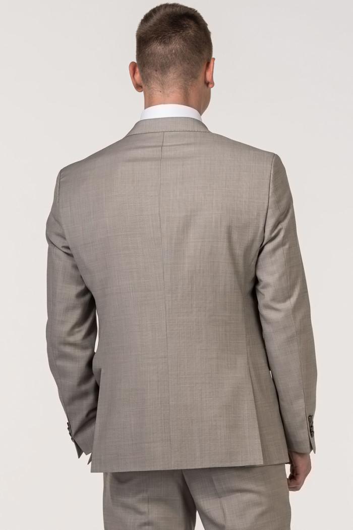 VARTEKS - Muški vuneni sako boje pijeska Super 100's – Regular fit