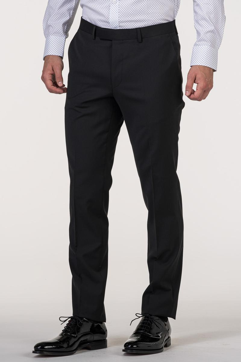 VARTEKS YOUNG - Muške crne hlače - Slim fit