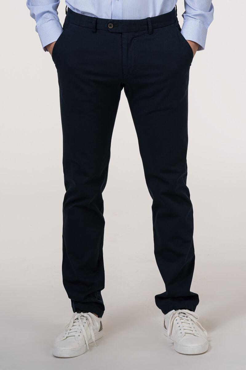 VARTEKS Muške lanene hlače od odijela - Regular fit