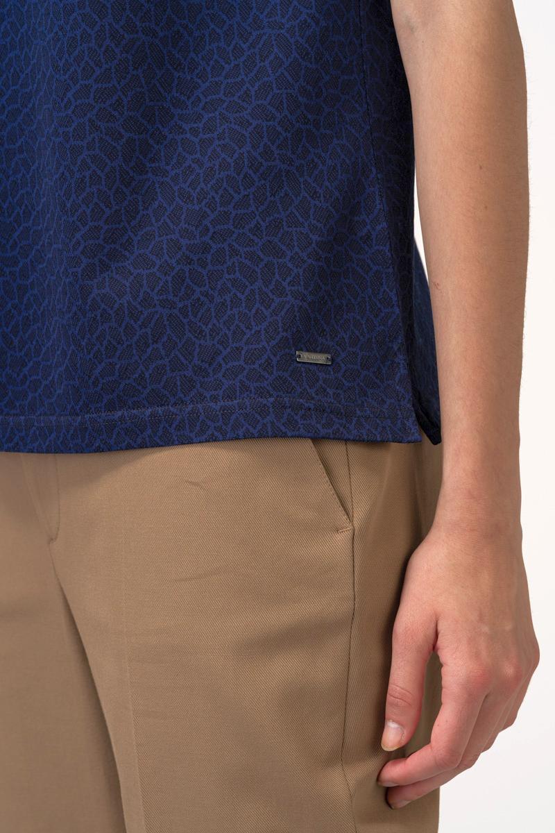 VARTEKS Ženska plava polo majica mramornog uzorka