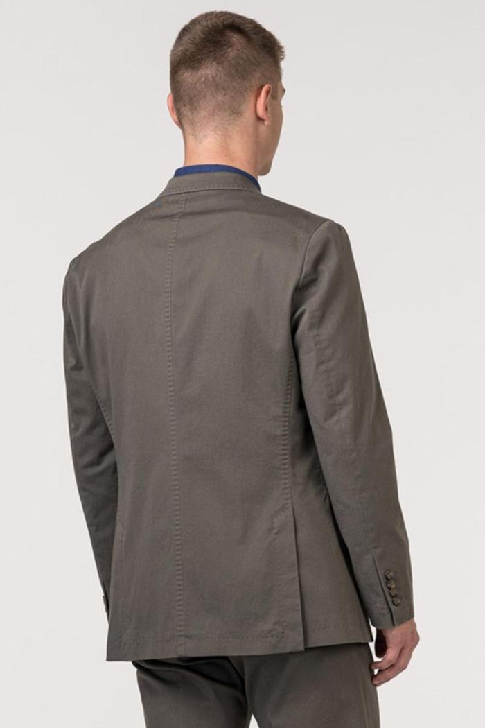 VARTEKS Muški sako od odijela maslinasto zelene boje - Regular fit
