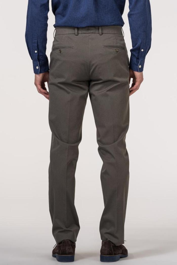 VARTEKS Muške hlače od odijela maslinasto zelene boje