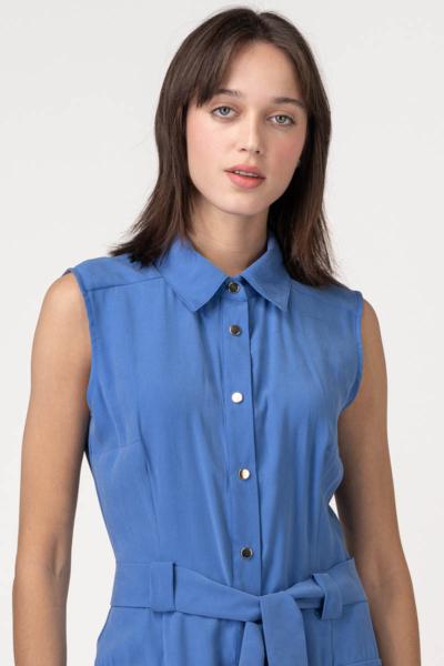 Ljetna haljina bez rukava ocean plave boje