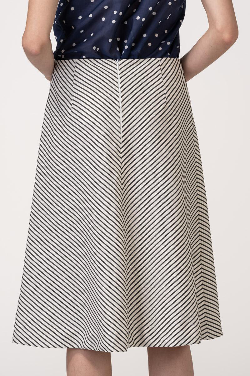 VARTEKS Ženska suknja A kroja s prugicama
