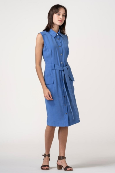 VARTEKS Ljetna haljina bez rukava ocean plave boje