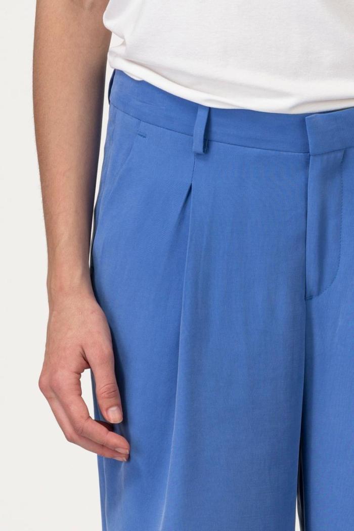 VARTEKS Ženske široke hlače ocean plave boje