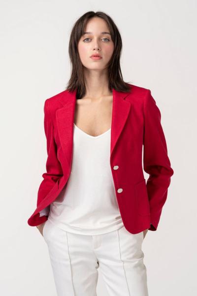 VARTEKS Ženski kratki sako crvene boje