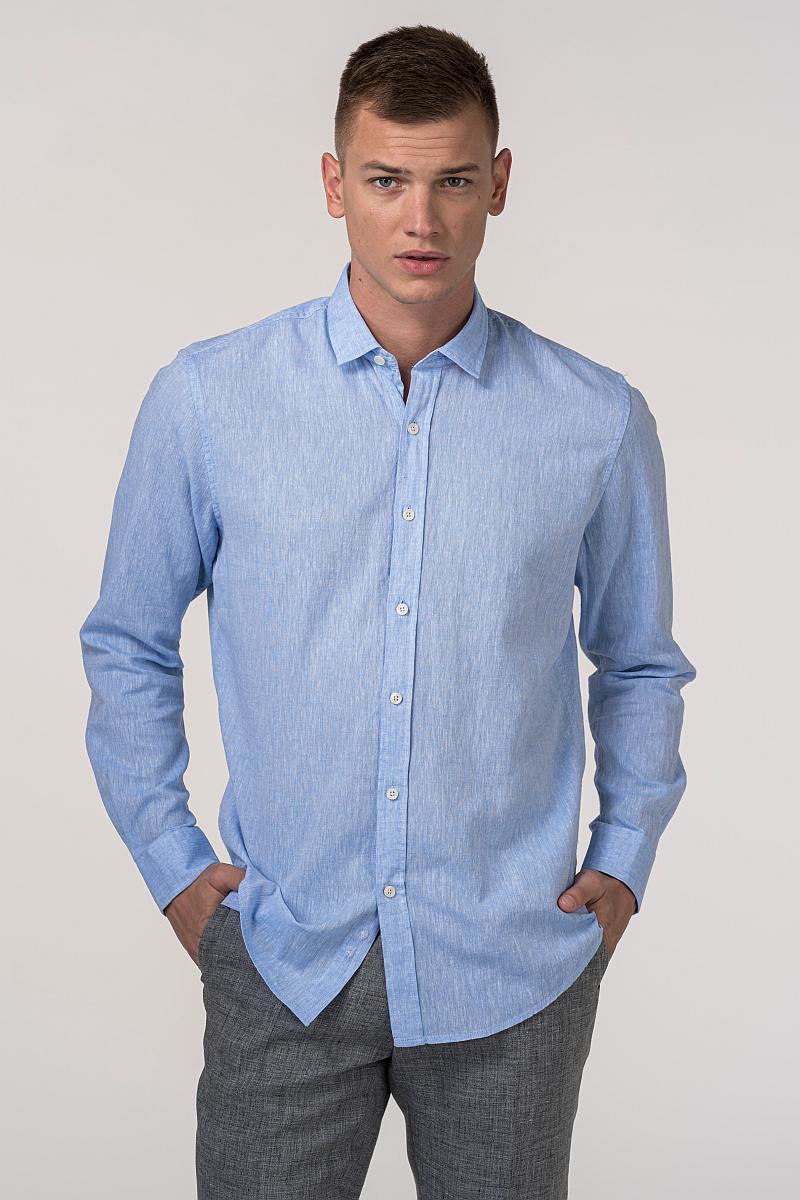 VARTEKS Muška košulja od lana i pamuka u tri boje - Regular fit